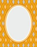 Postkarte, Rahmen, Gelb, Diamanten, Geometrie, Farbe, flach Lizenzfreie Stockbilder