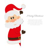Postkarte Santa Claus mit Raum für Text Lizenzfreie Stockfotos