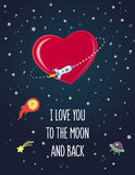 Postkarte an Valentinsgruß ` s Tag Stockbild