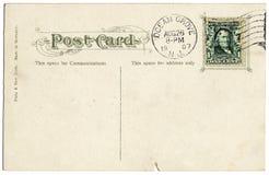 Postkarte von 1907 lizenzfreies stockbild