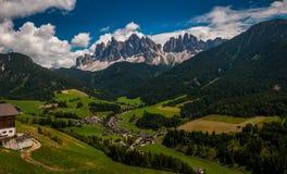 Postkarte von den Dolomit Stockbilder