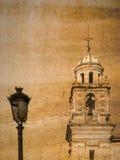 Postkarte von Jerez de la Frontera, Andalusien, Spanien, im Weinleseblick Stockfotografie