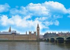 Postkarte von London-Palast von Westminster Lizenzfreie Stockfotografie