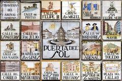 Postkarte von Madrid Stockfotografie