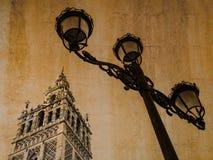 Postkarte von Sevilla, Andalusien, Spanien, im Weinleseblick Lizenzfreies Stockfoto