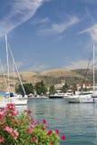 Postkarte von Trogir, Kroatien stockfotos