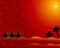 Postkarte wisemen nach Bethlehem Stockbilder