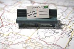 Postkarte - Wunsch waren Sie hier Lizenzfreie Stockfotografie