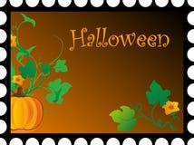 Postkarte zum Feiertag Halloween lizenzfreie abbildung