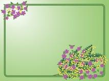 Postkarte zum 8. März mit Blumenstrauß der Mimose Stockfotografie