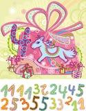Postkartegeburtstag lizenzfreie abbildung