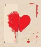 Postkartegeständnis der Liebe Lizenzfreie Abbildung