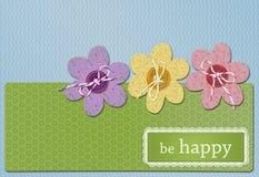 Postkarteglück Lizenzfreies Stockfoto