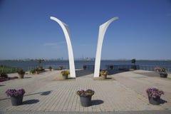 Postkarten 9/11 Denkmal in Staten Island Lizenzfreie Stockbilder