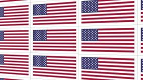 Postkarten mit Staatsflagge Vereinigter Staaten stock video footage