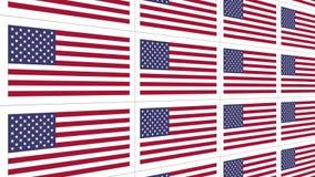 Postkarten mit Staatsflagge Vereinigter Staaten geschlungen stock video