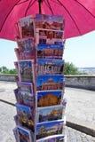 Postkarten-Postkarten-Stand Rom Italien Stockfoto