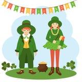 Postkarten-St- Patrick` s Tag vektor abbildung
