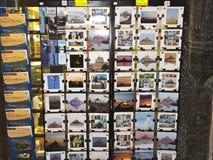 Postkarten und Karten von mont St. Michel Stockfotos