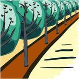 Postkartenbäume in der Zukunft Lizenzfreie Stockfotos