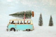 Postkartenhintergrund der Weinlese-frohen Weihnachten lizenzfreie stockfotos