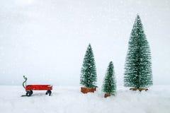 Postkartenhintergrund der Weinlese-frohen Weihnachten stockfotos