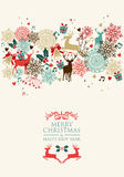 Postkartentransparenz der frohen Weihnachten Stockfoto