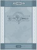 Postkartenweinlese-Blauhintergrund Lizenzfreie Stockfotografie