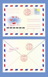 postkuvert Arkivbilder