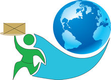 Postleverans Arkivbild