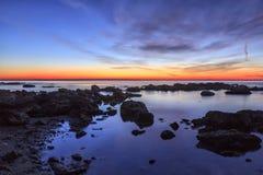 Postluminescence de rouge de matin Image stock