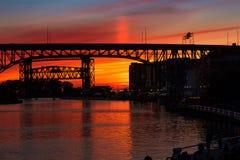 Postluminescenza di cremisi di Cleveland Fotografie Stock