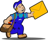 Postman. Stock Photos