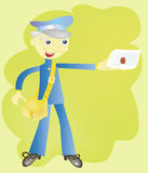 The postman Royalty Free Stock Photography