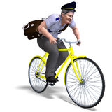 Postman on a bike Stock Images