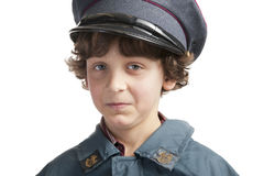 Postman with cap Stock Image