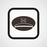 Postman cap icon Simple Vector illustration Royalty Free Stock Image