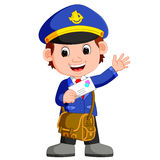 Postman cartoon Stock Photo