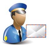 Postman. Cartoon of Postman or Mailman royalty free illustration