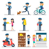 Postman Character Collection Stock Photos
