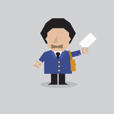 PostMan Character. Stock Images