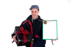 Postman  Christmas delivery Stock Photos