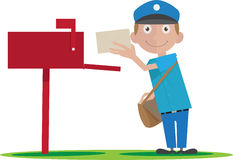 Postman delivering mail Royalty Free Stock Photos