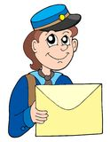 Postman with letter royalty free illustration
