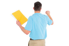 Postman with letter knocking Royalty Free Stock Images
