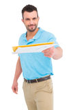 Postman with letter Royalty Free Stock Images