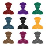Postman.Mail and postman single icon in black style vector symbol stock illustration web. Stock Image