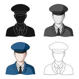 Postman.Mail and postman single icon in cartoon style vector symbol stock illustration web. Stock Photo