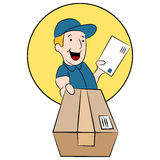 Postman Making Delivery Royalty Free Stock Photo