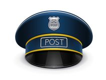 Postman peaked cap Stock Image